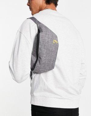 Серая нейлоновая сумка-кошелек на пояс -Серый Farah