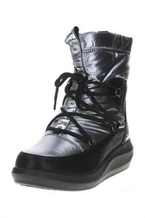 Полусапоги King Boots. Цвет: серебряный