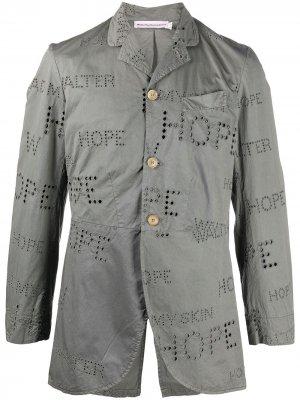 Пиджак Royal Walter Van Beirendonck Pre-Owned. Цвет: серый