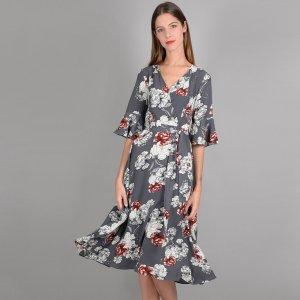 Платье-миди LaRedoute. Цвет: серый