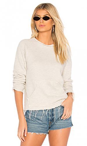 Пуловер kangaroo square MOTHER. Цвет: серый