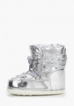 Луноходы King Boots. Цвет: серебряный