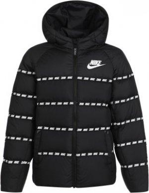 Пуховик для мальчиков Sportswear, размер 137-147 Nike. Цвет: черный