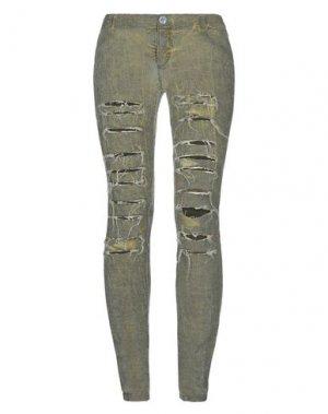 Повседневные брюки 10SEI0OTTO. Цвет: зеленый-милитари