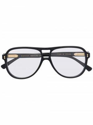 Очки-авиаторы Gucci Eyewear. Цвет: черный
