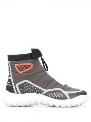 Ботинки на молнии со вставками Camper. Цвет: серый