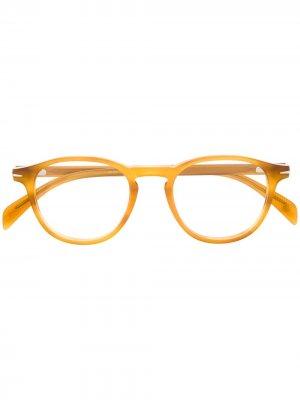 Очки в прямоугольной оправе Eyewear by David Beckham. Цвет: коричневый