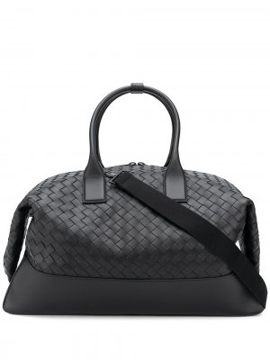 Дорожная сумка с плетением Intrecciato Bottega Veneta. Цвет: черный