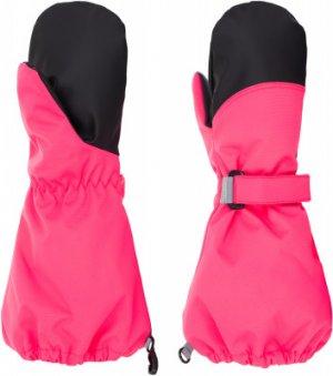 Варежки для девочек Amani, размер 4 LASSIE. Цвет: розовый