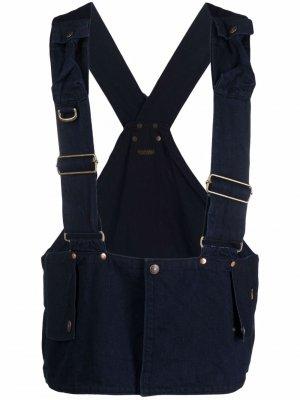 Джинсовый жилет Workwear Kapital. Цвет: синий