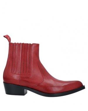 Полусапоги и высокие ботинки GUGLIELMO ROTTA. Цвет: красный