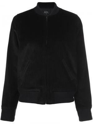 Классическая куртка-бомбер A.P.C.. Цвет: чёрный