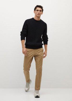 Укороченные брюки-чинос tapered - Prato Mango. Цвет: бежевый