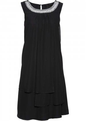 Коктейльное платье класса ПРЕМИУМ bonprix. Цвет: черный