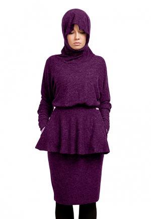 Платье Sahera Rahmani. Цвет: фиолетовый