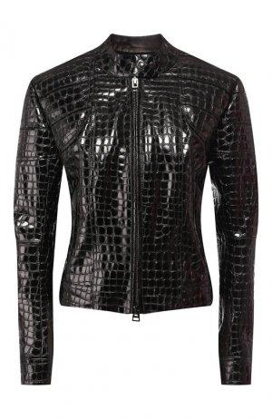 Кожаная куртка Tom Ford. Цвет: чёрный