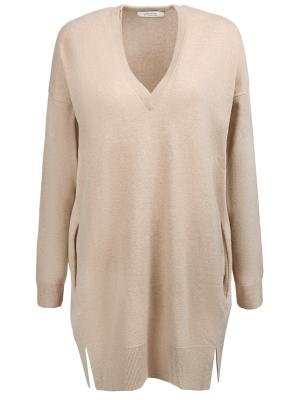 Пуловер свободного кроя DOROTHEE SCHUMACHER. Цвет: бежевый