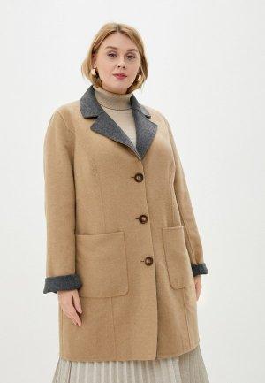 Пальто Ulla Popken. Цвет: разноцветный