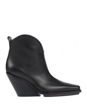 Полусапоги и высокие ботинки ANN DEMEULEMEESTER. Цвет: черный