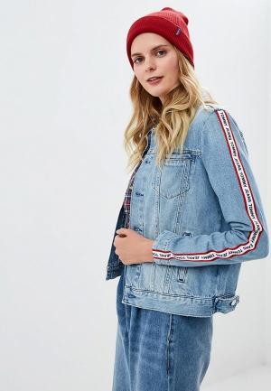 Куртка джинсовая Tommy Jeans TO052EWDECK9. Цвет: голубой