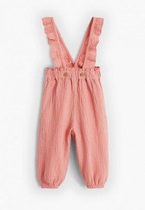 Брюки Mango Kids - JANA. Цвет: розовый