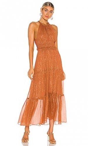 Платье миди elara A.L.C.. Цвет: ржавый