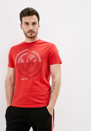 Футболка Michael Kors. Цвет: красный