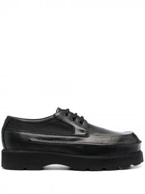 Туфли дерби с закругленным носком Acne Studios. Цвет: черный