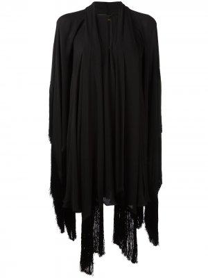 Драпированное платье Plein Sud. Цвет: черный