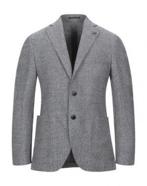 Пиджак GABRIELE PASINI. Цвет: стальной серый