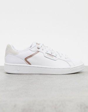 Белые кроссовки Clean court II CMF-Белый K-Swiss