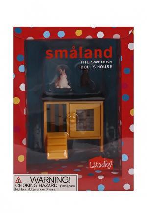 Набор игровой Lundby Животные для домика. Смоланд. Кролики и домик.. Цвет: разноцветный