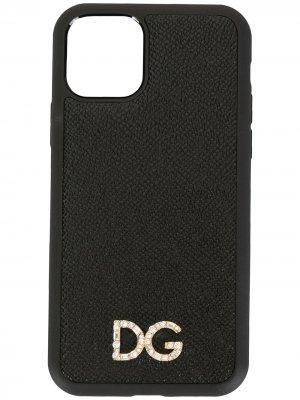 Чехол для iPhone 11 Pro с логотипом Dolce & Gabbana. Цвет: черный