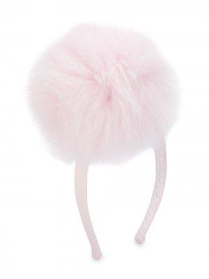 Ободок для волос с помпоном Bimbalo. Цвет: розовый