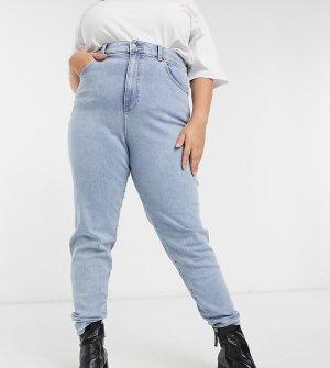 Светло-голубые джинсы прямого кроя Nora-Голубой Dr Denim Plus