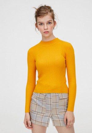 Пуловер Pull&Bear. Цвет: желтый