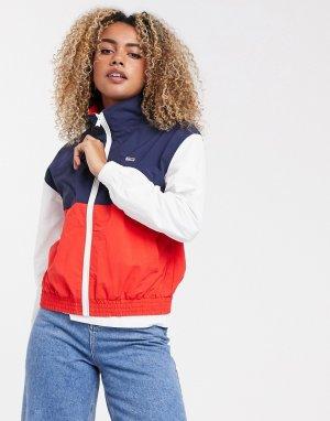 Куртка-ветровка в стиле колор блок -Белый Tommy Jeans