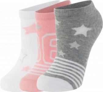Носки для девочек , 3 пары, размер 34-36 Demix. Цвет: розовый
