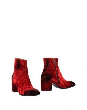 Полусапоги и высокие ботинки ALEXANDER HOTTO. Цвет: красный