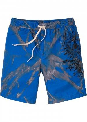 Бермуды пляжные bonprix. Цвет: синий