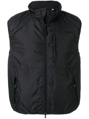 Дутая куртка без рукавов Aspesi. Цвет: черный