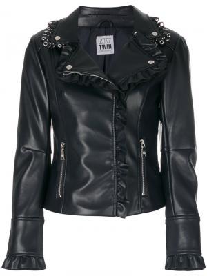 Classic biker jacket Twin-Set. Цвет: синий