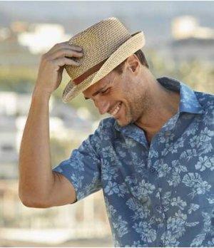 Шляпа Трилби Atlas For Men. Цвет: кремовый
