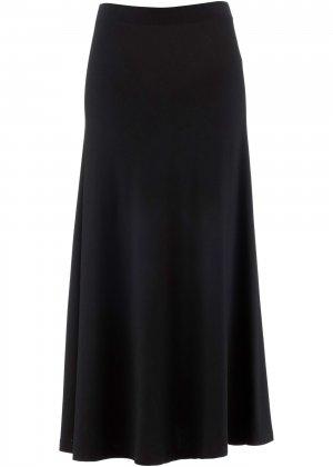 Длинная юбка-миди bonprix. Цвет: черный