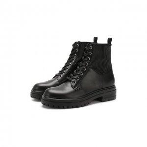 Кожаные ботинки Gianvito Rossi. Цвет: чёрный