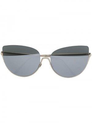 Солнцезащитные очки в оправе кошачий глаз Nina Ricci. Цвет: золотистый