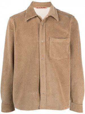 Вельветовая рубашка с длинными рукавами Acne Studios. Цвет: нейтральные цвета