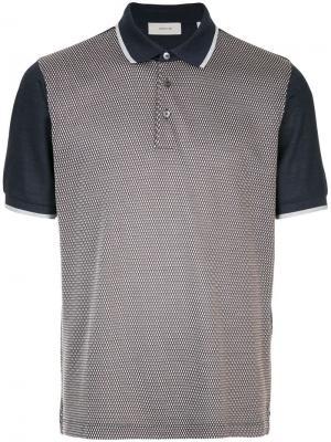 Рубашка-поло с контрастными рукавами и узором Cerruti 1881. Цвет: разноцветный
