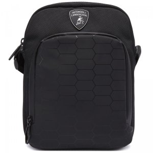 Сумка Automobili Lamborghini. Цвет: чёрный