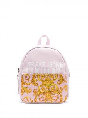 Рюкзак с принтом Versace Jeans Couture. Цвет: розовый